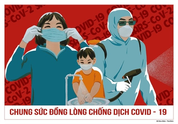 Vẽ tranh cổ động phòng chống đại dịch Covid 19
