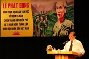 Tôn vinh tác phẩm đề tài về chiến tranh và quân đội