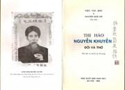 Chất dân gian trong thơ Nôm Nguyễn Khuyến