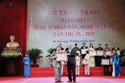 391 nghệ sĩ được phong tặng, truy tặng danh hiệu NSND, NSƯT