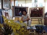 Nguyễn Thị Phương Lan: Nữ họa sĩ biến vải vụn thành tranh