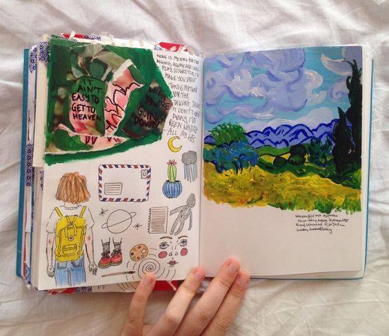 Sáng tạo nhật ký bằng tranh cùng lớp vẽ Hồng Xiêm