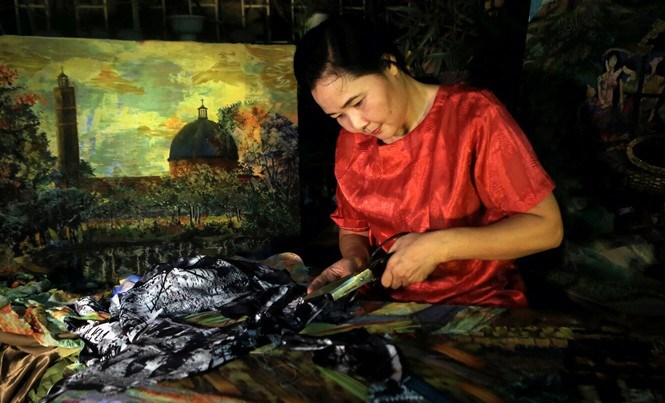 Họa sĩ Thanh Thục: Đam mê ghép vải vào hồn tranh