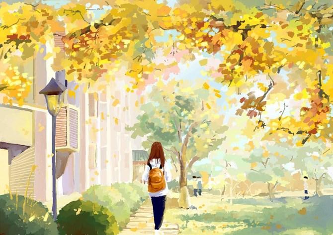 Cùng vẽ mùa thu với họa sỹ Đặng Việt Linh