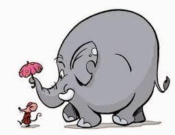Tình bạn thân thiết của Voi mập và Chuột còi